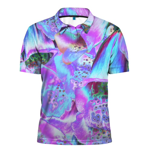 Мужская рубашка поло 3D Цветы Аватара