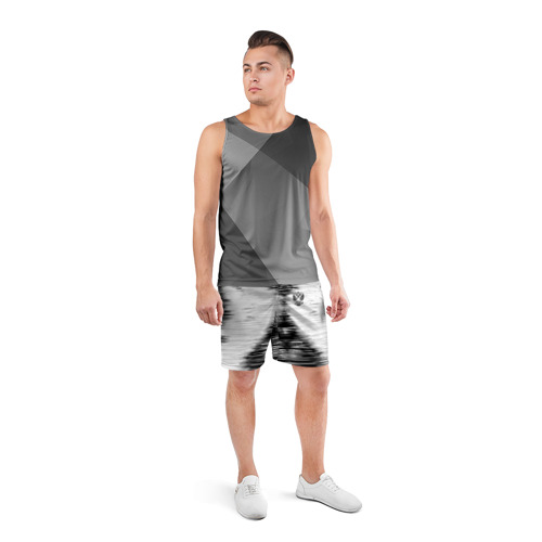 Мужские шорты 3D спортивные  Фото 04, Russia-black collection