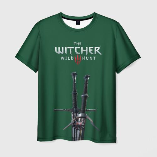 Мужская футболка 3D  Фото 03, Ведьмак