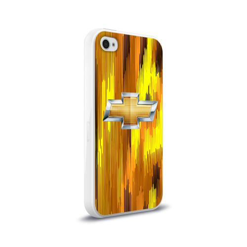 Чехол для Apple iPhone 4/4S силиконовый глянцевый Chevrolet abstract sport 2018 Фото 01
