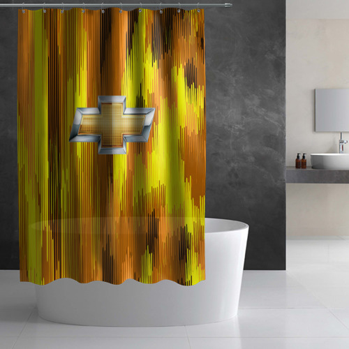 Штора 3D для ванной Chevrolet abstract sport 2018 Фото 01