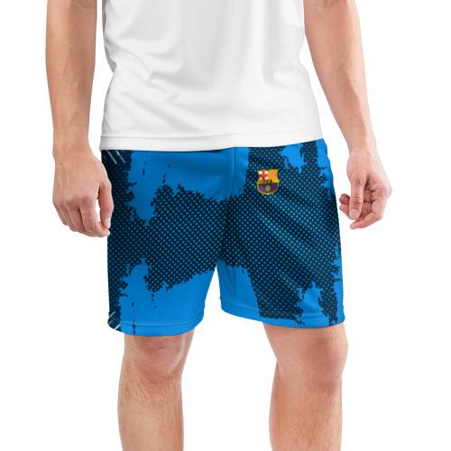 Мужские шорты 3D спортивные  Фото 03, BARCELONA SPORT BLUE