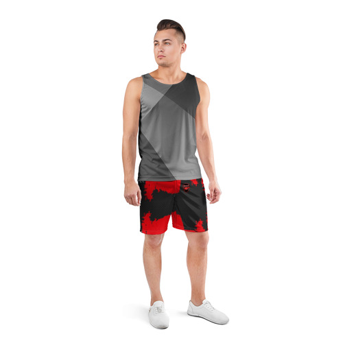 Мужские шорты 3D спортивные  Фото 04, ARSENAL SPORT RED