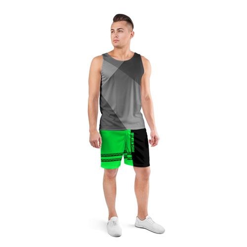 Мужские шорты 3D спортивные  Фото 04, Green Day