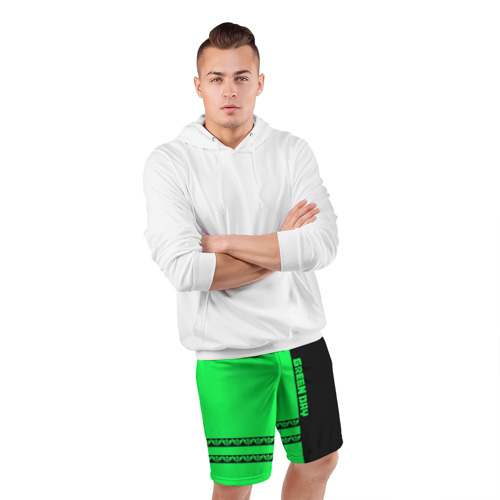 Мужские шорты 3D спортивные  Фото 05, Green Day