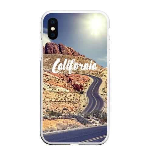 Чехол для iPhone XS Max матовый California Фото 01