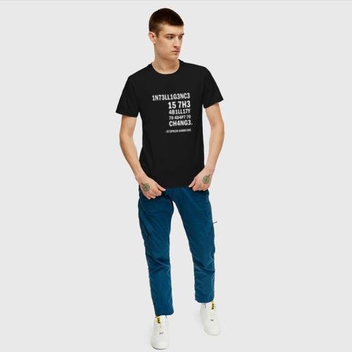 Мужская футболка хлопок 1N73LL1G3NC3 Фото 01
