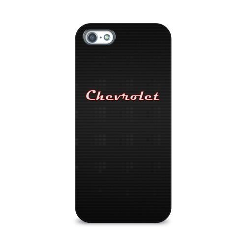 Чехол для Apple iPhone 5/5S 3D  Фото 01, Chevrolet Red