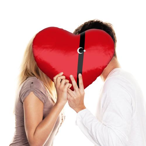 Подушка 3D сердце  Фото 03, Турция лента