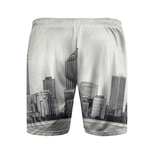 Мужские шорты 3D спортивные  Фото 02, Город ретро