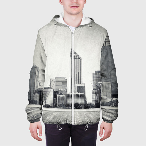 Мужская куртка 3D  Фото 04, Город ретро