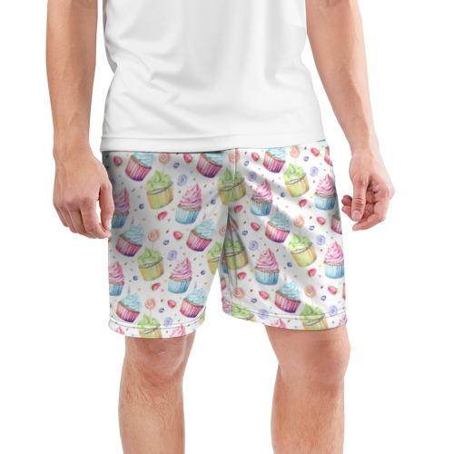 Мужские шорты 3D спортивные  Фото 03, Cupcakes