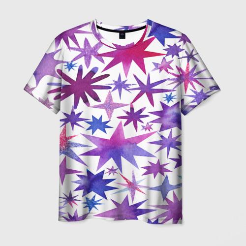 Мужская футболка 3D  Фото 03, Звёзды white