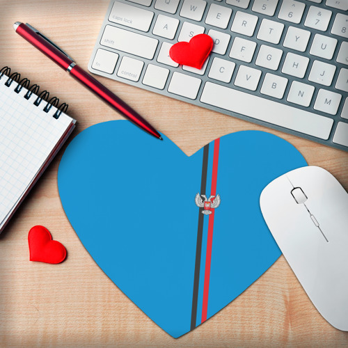 Коврик сердце  Фото 02, ДНР, лента с гербом