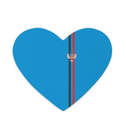 Коврик сердце  Фото 01, ДНР, лента с гербом