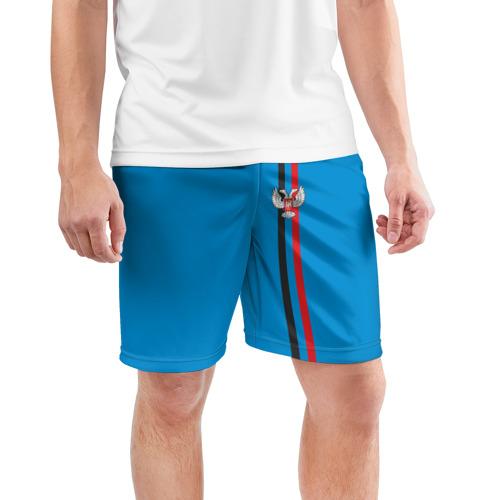Мужские шорты 3D спортивные  Фото 03, ДНР, лента с гербом