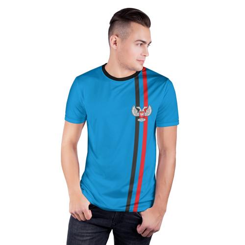 Мужская футболка 3D спортивная  Фото 03, ДНР, лента с гербом