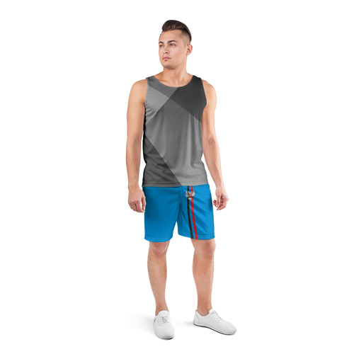 Мужские шорты 3D спортивные  Фото 04, ДНР, лента с гербом