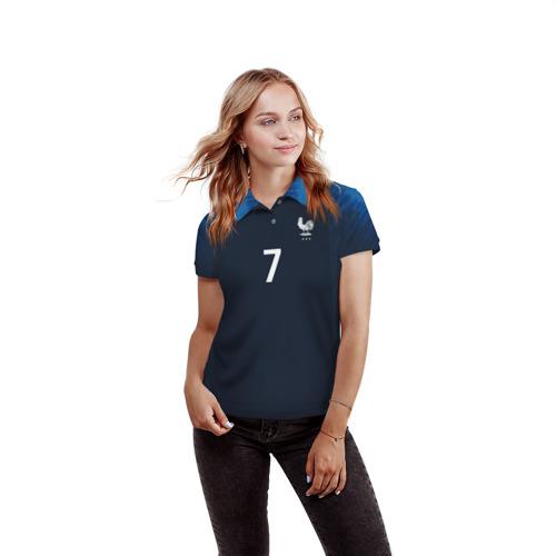 Женская рубашка поло 3D  Фото 03, Griezmann home 18-19 WC