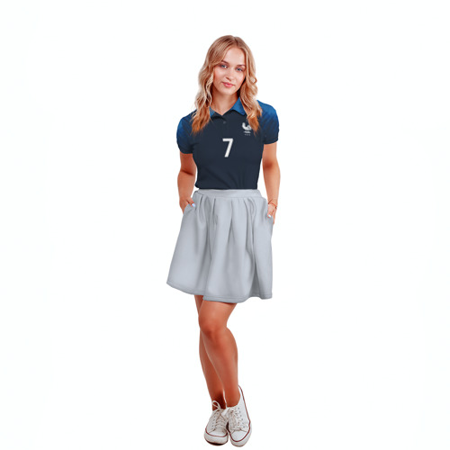Женская рубашка поло 3D  Фото 04, Griezmann home 18-19 WC