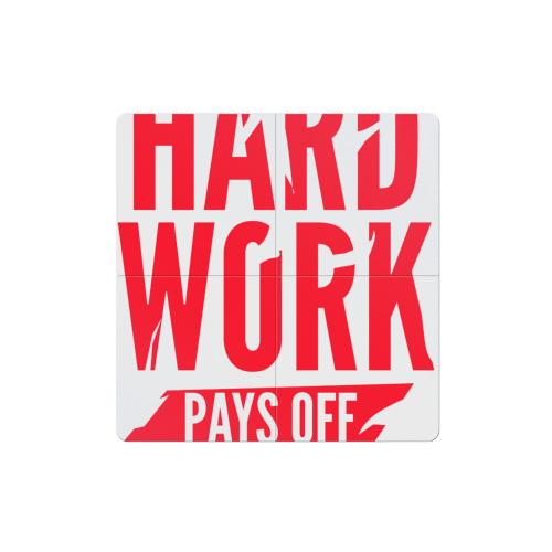 Магнитный плакат 2Х2  Фото 01, Hard work pays off. Red