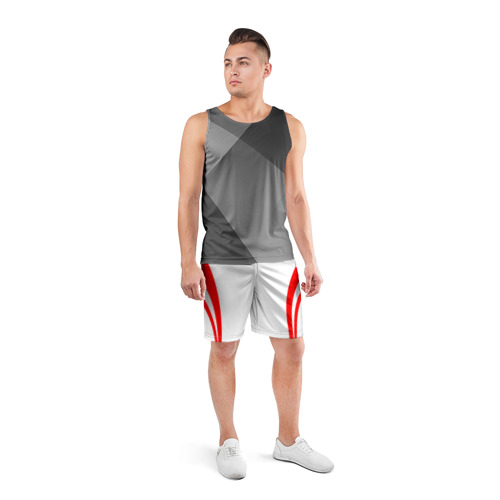Мужские шорты 3D спортивные  Фото 04, Рокетс домашняя форма