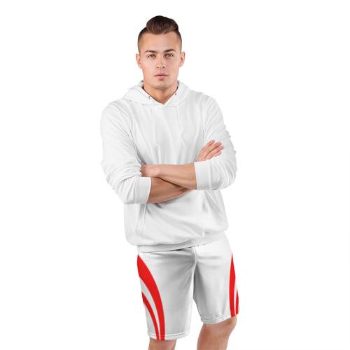 Мужские шорты 3D спортивные  Фото 05, Рокетс домашняя форма