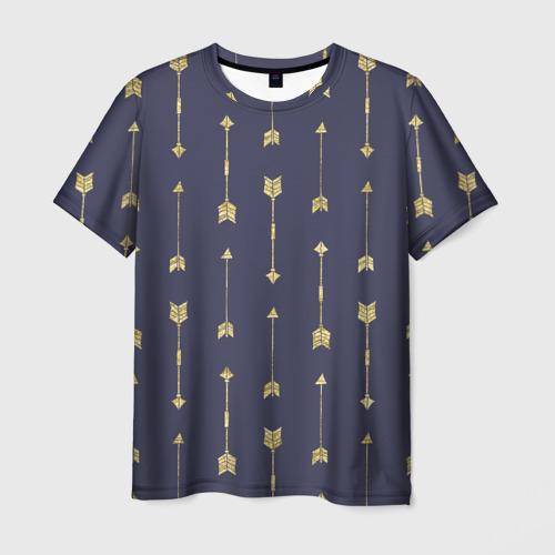 Мужская футболка 3D Золотые стрелы Фото 01