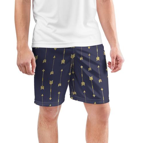 Мужские шорты 3D спортивные  Фото 03, Золотые стрелы