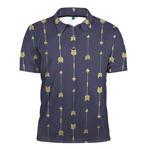 Мужская рубашка поло 3D  Фото 01, Золотые стрелы