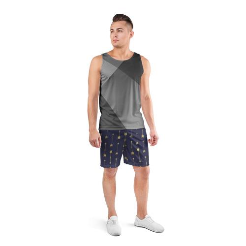 Мужские шорты 3D спортивные  Фото 04, Золотые стрелы