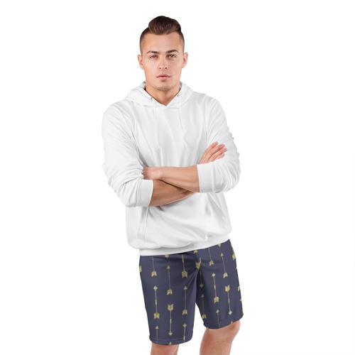 Мужские шорты 3D спортивные  Фото 05, Золотые стрелы