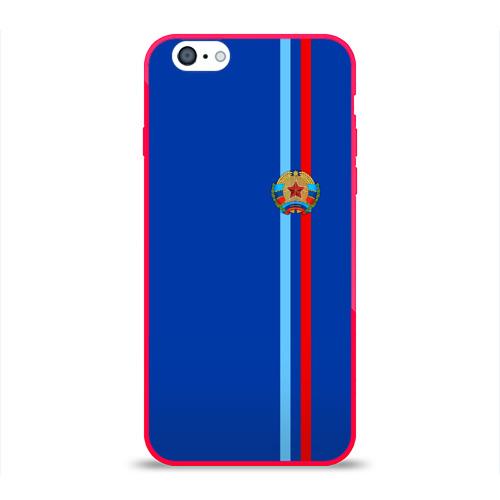 Чехол для Apple iPhone 6 силиконовый глянцевый  Фото 01, ЛНР, лента с гербом