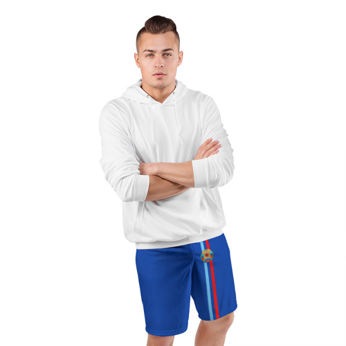 Мужские шорты 3D спортивные  Фото 05, ЛНР, лента с гербом