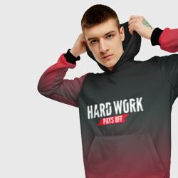 Hard work pays off. 3D. RedB