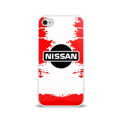 Чехол для Apple iPhone 4/4S силиконовый глянцевый Nissan Фото 01