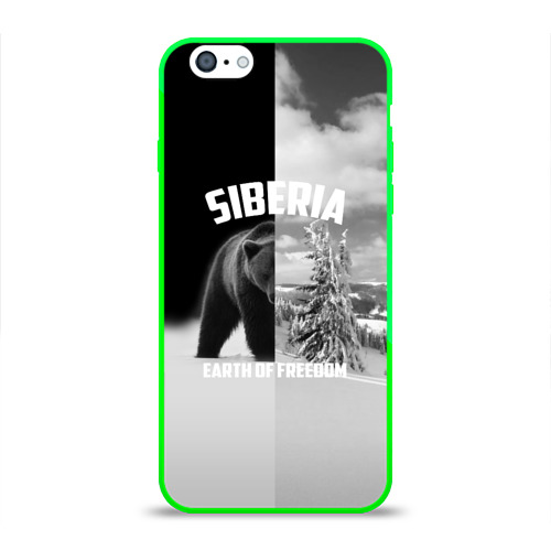 Чехол для Apple iPhone 6 силиконовый глянцевый  Фото 01, Siberia earth of freedom