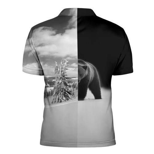Мужская рубашка поло 3D  Фото 02, Siberia earth of freedom
