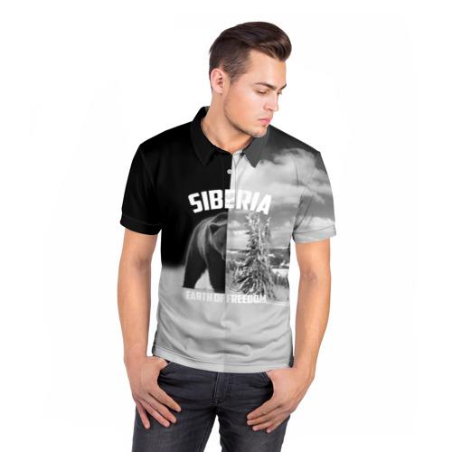 Мужская рубашка поло 3D  Фото 05, Siberia earth of freedom