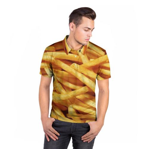Мужская рубашка поло 3D  Фото 05, Картошка фри