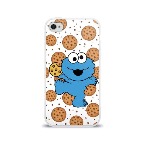 Чехол для Apple iPhone 4/4S силиконовый глянцевый  Фото 01, Cookie monster