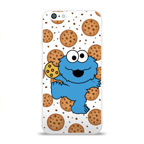 Чехол для Apple iPhone 6 силиконовый глянцевый  Фото 01, Cookie monster