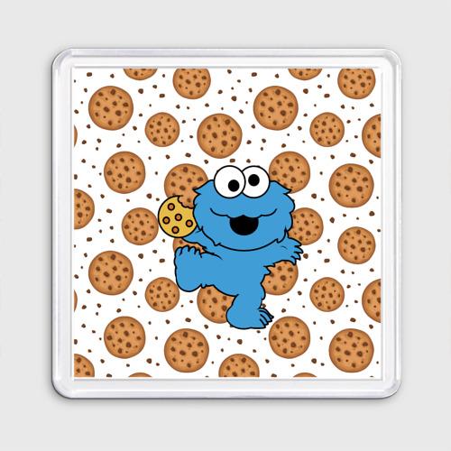 Магнит 55*55  Фото 01, Cookie monster