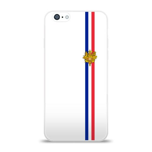 Чехол для Apple iPhone 6 силиконовый глянцевый  Фото 01, Франция, лента с гербом