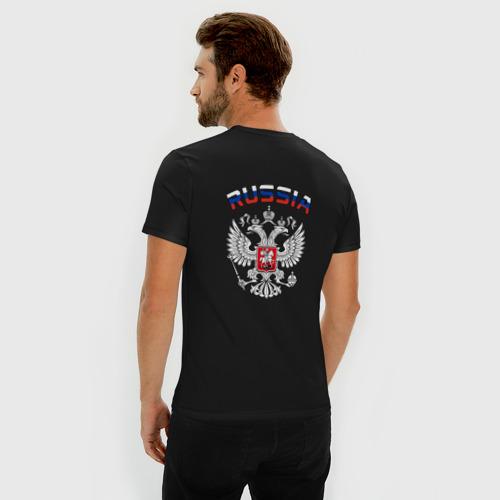Мужская футболка премиум  Фото 04, Russia герб (двусторонняя)