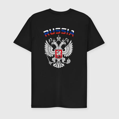Мужская футболка премиум  Фото 02, Russia герб (двусторонняя)