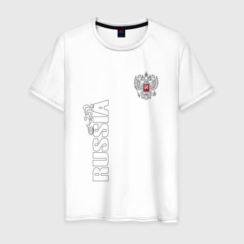 Мужская футболка хлопок Russia герб (двусторонняя) Фото 01