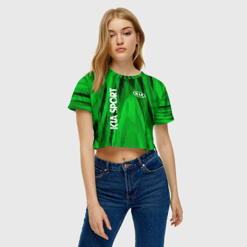 Женская футболка 3D укороченная  Фото 04, Kia SPORT