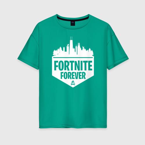 Женская футболка хлопок Oversize Fortnite Forever Фото 01