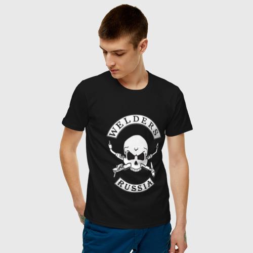 Мужская футболка хлопок Сварщики России Фото 01